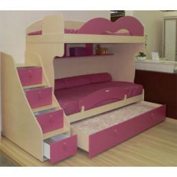 Детская двухъярусная кровать Бамбини