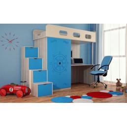 Детская кровать-чердак Дм89