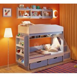 Двухъярусная кровать Миф 10.3 с полками