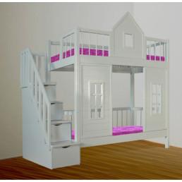 Двухъярусная кровать-домик +